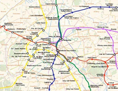 Metro og RER i Paris