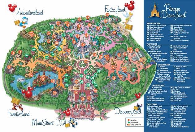 Disneyland Park kort, Paris