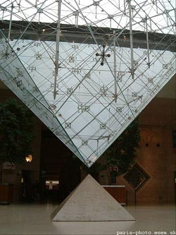Louvre Paris, omvendt pyramide