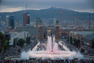 Det Magiske Springvand Placa Espanya