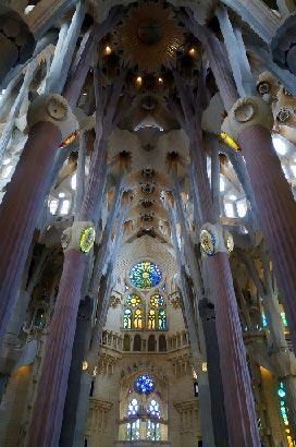Sagrada Familia indvendigt